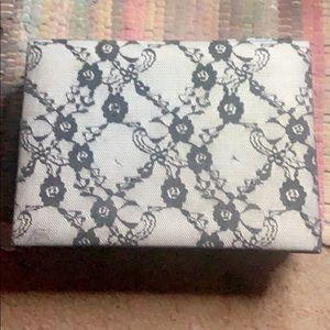 Black laced storage box